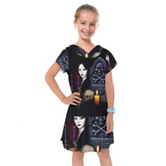 Vampires Night  Kids  Drop Waist Dress