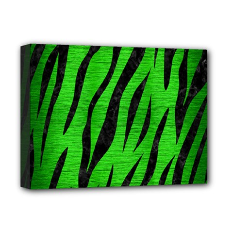 Skin3 Black Marble & Green Brushed Metal (r) Deluxe Canvas 16  X 12