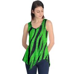 Skin3 Black Marble & Green Brushed Metal (r) Sleeveless Tunic