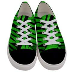 Skin3 Black Marble & Green Brushed Metal (r) Women s Low Top Canvas Sneakers