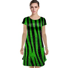 Skin4 Black Marble & Green Brushed Metal Cap Sleeve Nightdress