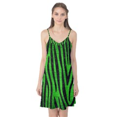 Skin4 Black Marble & Green Brushed Metal Camis Nightgown