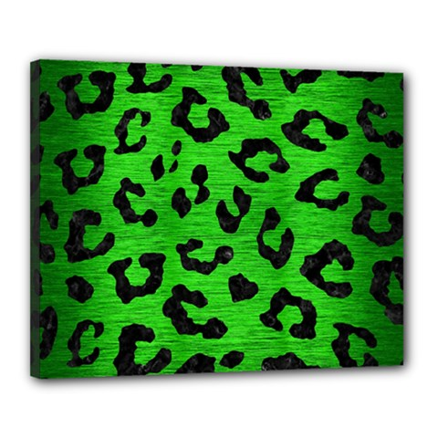 Skin5 Black Marble & Green Brushed Metal Canvas 20  X 16