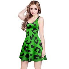 Skin5 Black Marble & Green Brushed Metal Reversible Sleeveless Dress