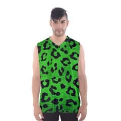 Skin5 Black Marble & Green Brushed Metal Men s Basketball Tank Top