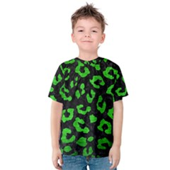 Skin5 Black Marble & Green Brushed Metal (r) Kids  Cotton Tee