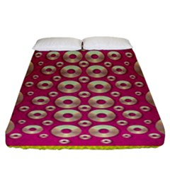 Going Gold Or Metal On Fern Pop Art Fitted Sheet (king Size)