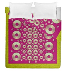 Going Gold Or Metal On Fern Pop Art Duvet Cover Double Side (queen Size)