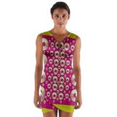 Going Gold Or Metal On Fern Pop Art Wrap Front Bodycon Dress