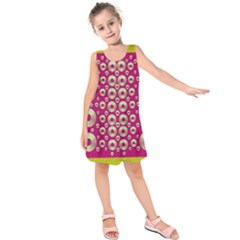 Going Gold Or Metal On Fern Pop Art Kids  Sleeveless Dress