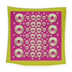 Going Gold Or Metal On Fern Pop Art Square Tapestry (large)