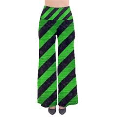 Stripes3 Black Marble & Green Brushed Metal Pants