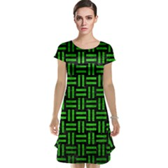 Woven1 Black Marble & Green Brushed Metal Cap Sleeve Nightdress