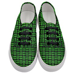 Woven1 Black Marble & Green Brushed Metal Women s Classic Low Top Sneakers