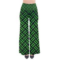 Woven2 Black Marble & Green Brushed Metal Pants
