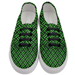 Woven2 Black Marble & Green Brushed Metal Women s Classic Low Top Sneakers