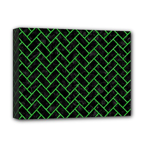 Brick2 Black Marble & Green Colored Pencil Deluxe Canvas 16  X 12