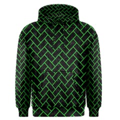 Brick2 Black Marble & Green Colored Pencil Men s Pullover Hoodie