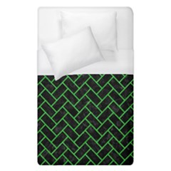 Brick2 Black Marble & Green Colored Pencil Duvet Cover (single Size)
