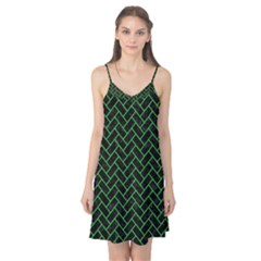 Brick2 Black Marble & Green Colored Pencil Camis Nightgown