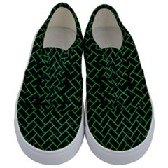 Brick2 Black Marble & Green Colored Pencil Kids  Classic Low Top Sneakers