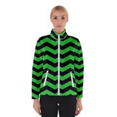 Chevron3 Black Marble & Green Colored Pencil Winterwear
