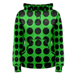 Circles1 Black Marble & Green Colored Pencil (r) Women s Pullover Hoodie