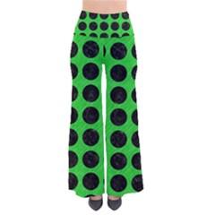 Circles1 Black Marble & Green Colored Pencil (r) Pants