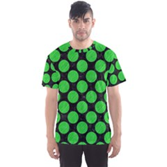 Circles2 Black Marble & Green Colored Pencil Men s Sports Mesh Tee
