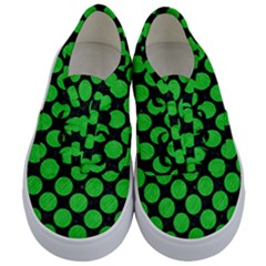 Circles2 Black Marble & Green Colored Pencil Kids  Classic Low Top Sneakers