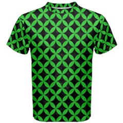 Circles3 Black Marble & Green Colored Pencil Men s Cotton Tee
