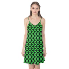 Circles3 Black Marble & Green Colored Pencil Camis Nightgown
