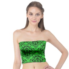 Damask1 Black Marble & Green Colored Pencil (r) Tube Top