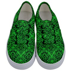 Damask1 Black Marble & Green Colored Pencil (r) Kids  Classic Low Top Sneakers