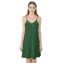 Hexagon1 Black Marble & Green Colored Pencil Camis Nightgown