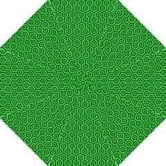 Hexagon1 Black Marble & Green Colored Pencil (r) Hook Handle Umbrellas (medium)