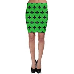 Royal1 Black Marble & Green Colored Pencil Bodycon Skirt