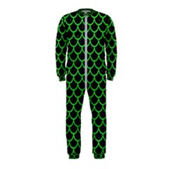 Scales1 Black Marble & Green Colored Pencil Onepiece Jumpsuit (kids)