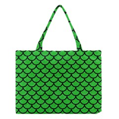 Scales1 Black Marble & Green Colored Pencil (r) Medium Tote Bag
