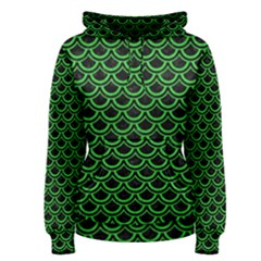 Scales2 Black Marble & Green Colored Pencil Women s Pullover Hoodie