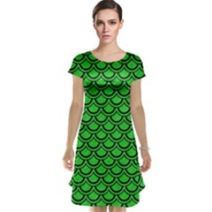 Scales2 Black Marble & Green Colored Pencil (r) Cap Sleeve Nightdress
