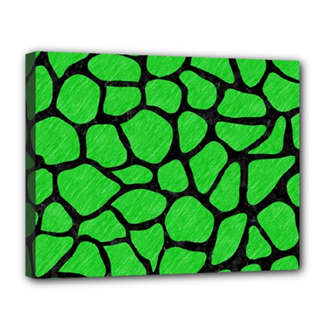Skin1 Black Marble & Green Colored Pencil Canvas 14  X 11