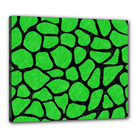Skin1 Black Marble & Green Colored Pencil Canvas 24  X 20