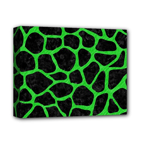 Skin1 Black Marble & Green Colored Pencil (r) Deluxe Canvas 14  X 11