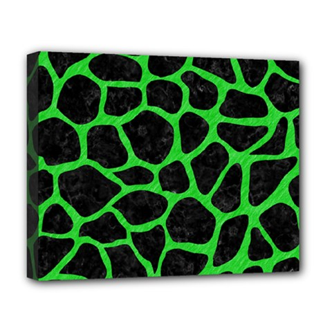 Skin1 Black Marble & Green Colored Pencil (r) Deluxe Canvas 20  X 16