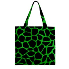Skin1 Black Marble & Green Colored Pencil (r) Zipper Grocery Tote Bag