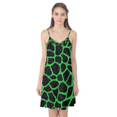 Skin1 Black Marble & Green Colored Pencil (r) Camis Nightgown
