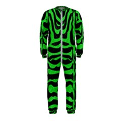 Skin2 Black Marble & Green Colored Pencil Onepiece Jumpsuit (kids)