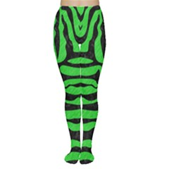 Skin2 Black Marble & Green Colored Pencil (r) Women s Tights