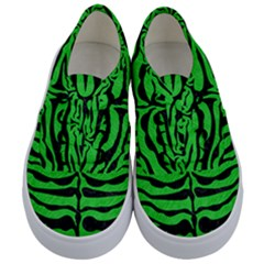 Skin2 Black Marble & Green Colored Pencil (r) Kids  Classic Low Top Sneakers